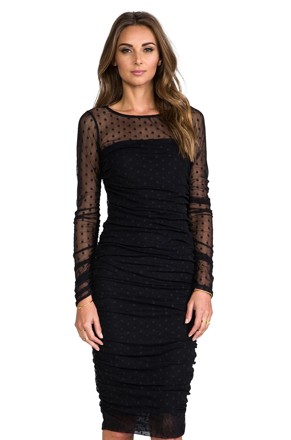 Paper Crown by Lauren Conrad Sophia Dress in Black Polka