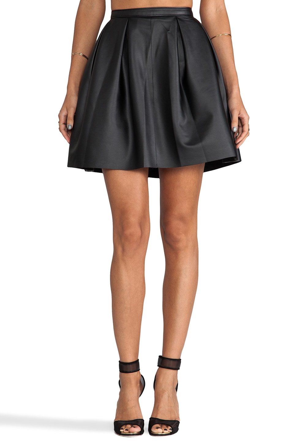 Paper Crown by Lauren Conrad Sutton Skirt in Black