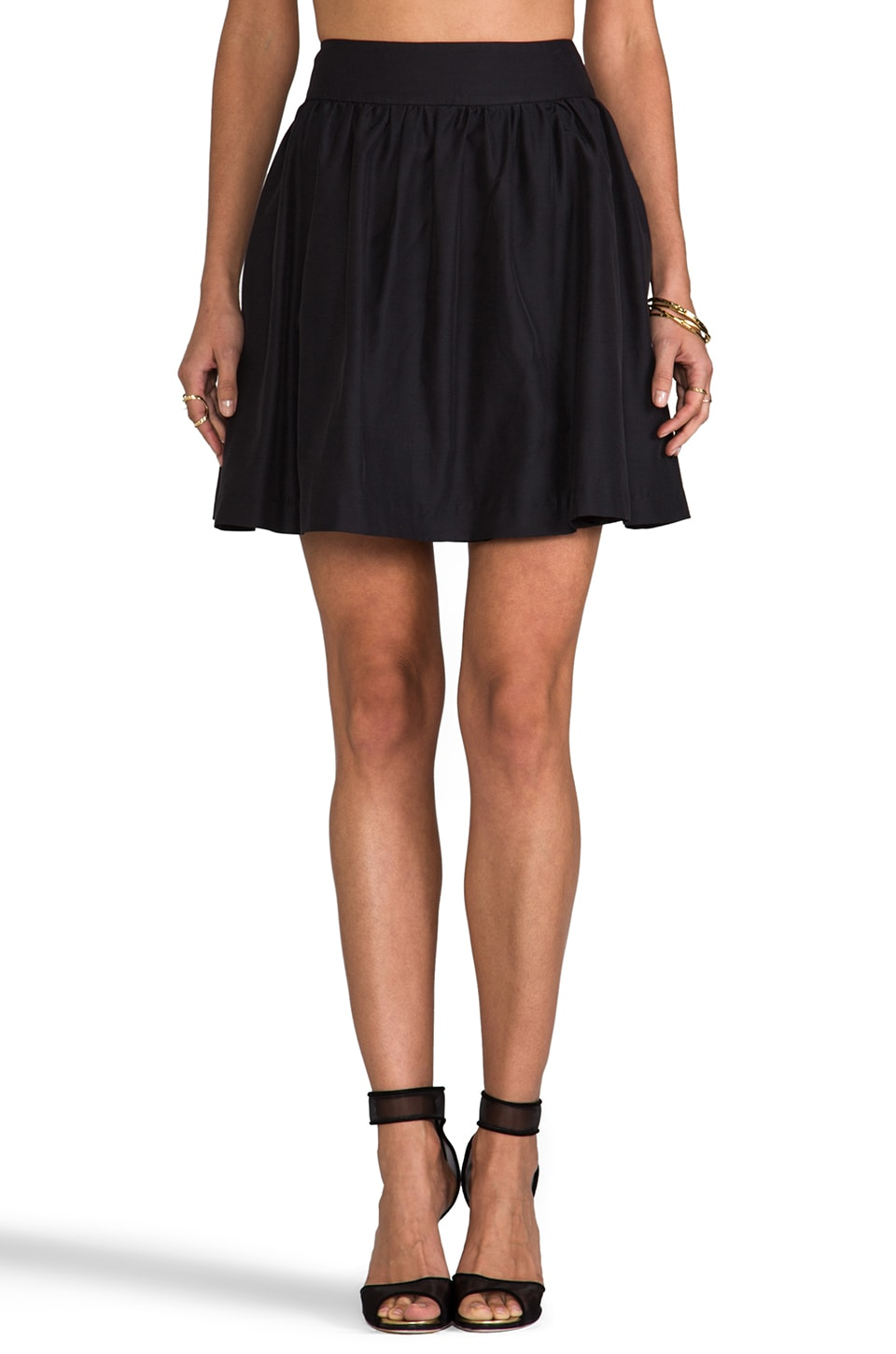 Paper Crown by Lauren Conrad Chaplin Skirt in Black