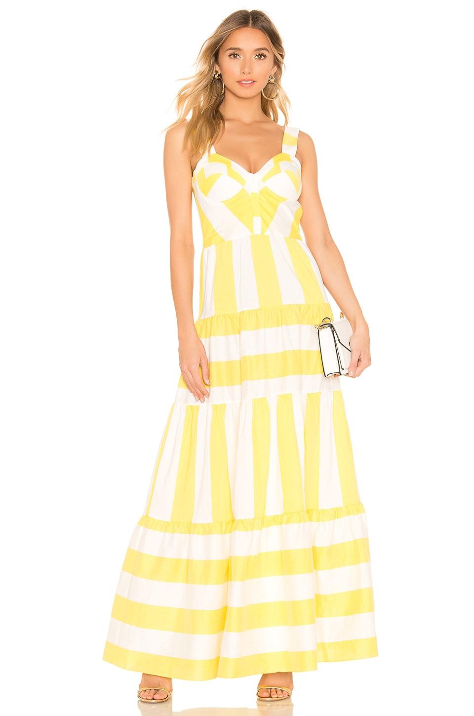 Paper London Porto Dress in Sunshine Stripe