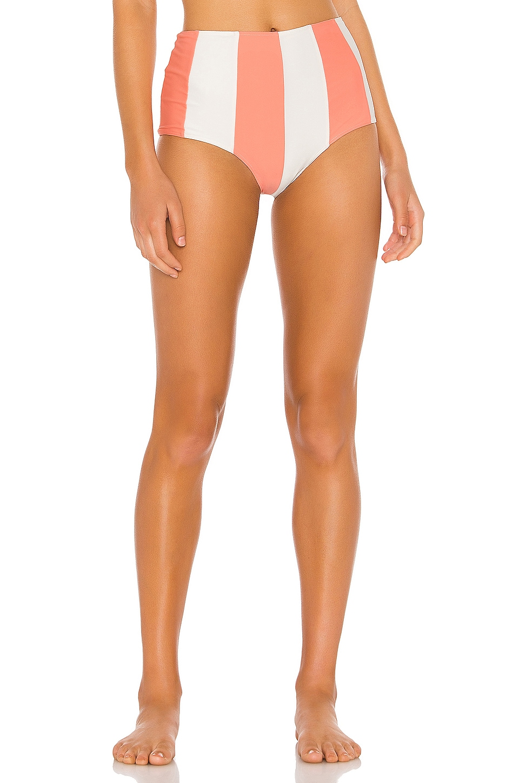Paper London Sunshine Bikini Bottom in Coral Coast Ivory & Grapefruit