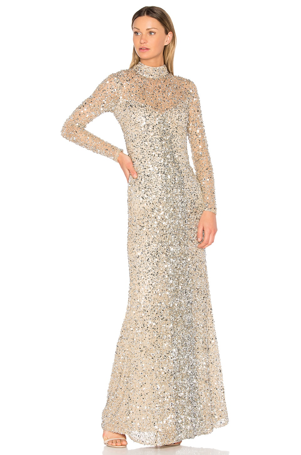Parker Black Leandra Gown in Silver