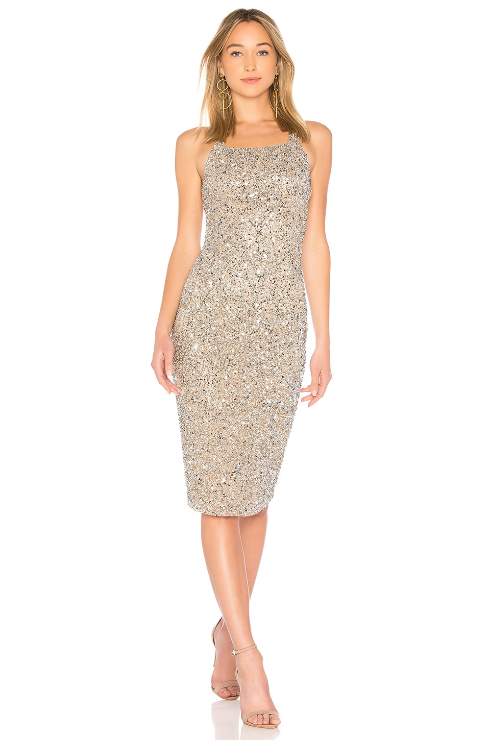 Parker Black Sage Dress in Silver