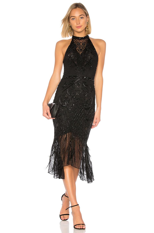 PARKER BLACK ASTER DRESS