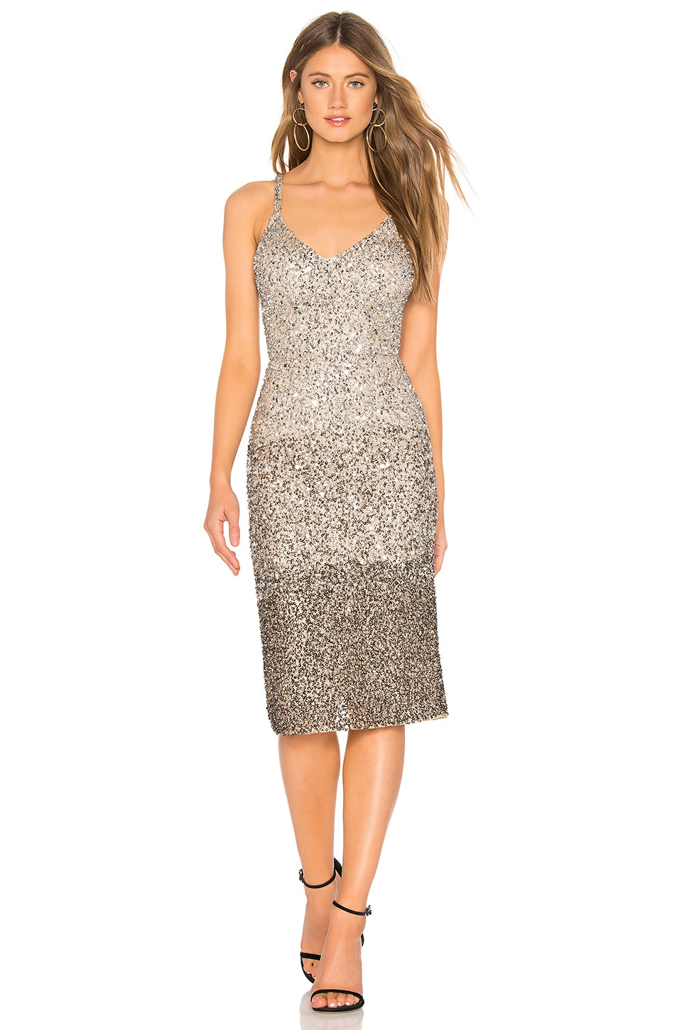 Parker Black Faith Dress in Sand