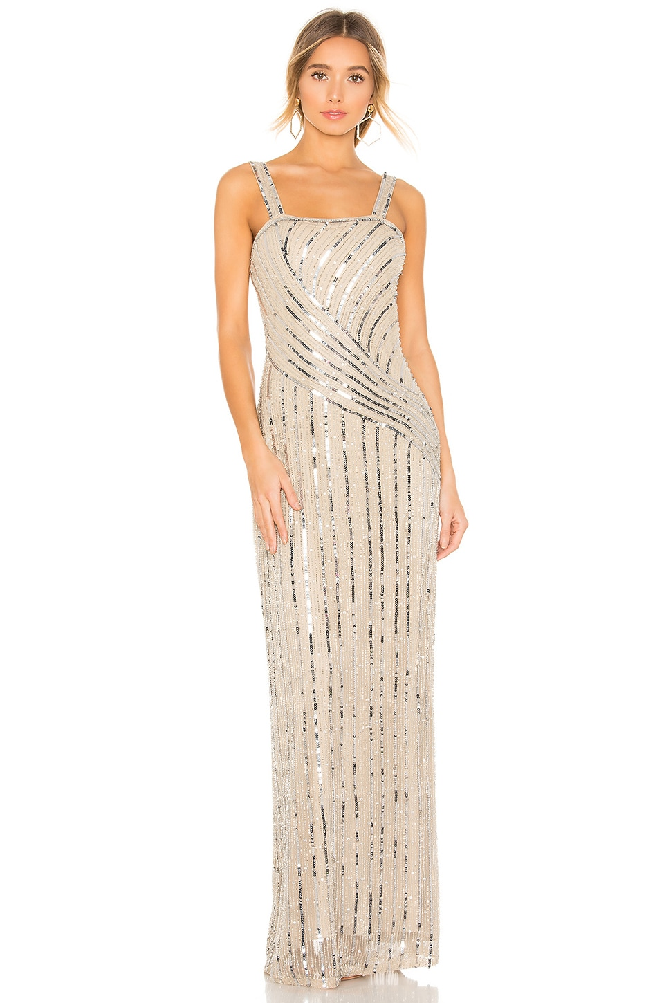 Parker Black Lisbeth Gown in Champagne