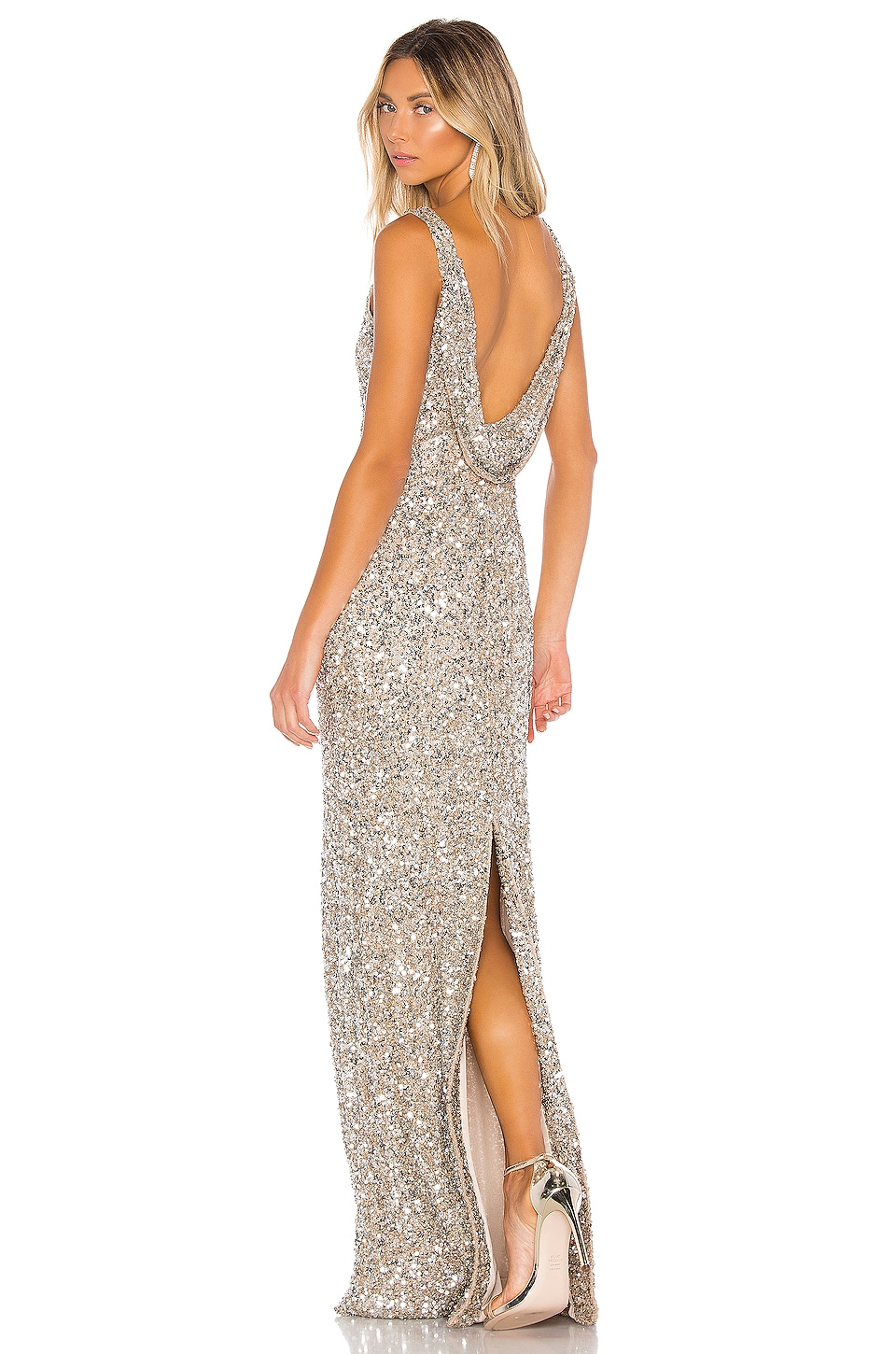 Parker Black Nicolette gown in Champagne