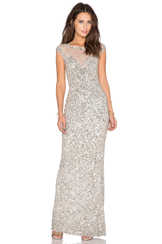 Parker Black Jennifer Sequin Dress in Silver