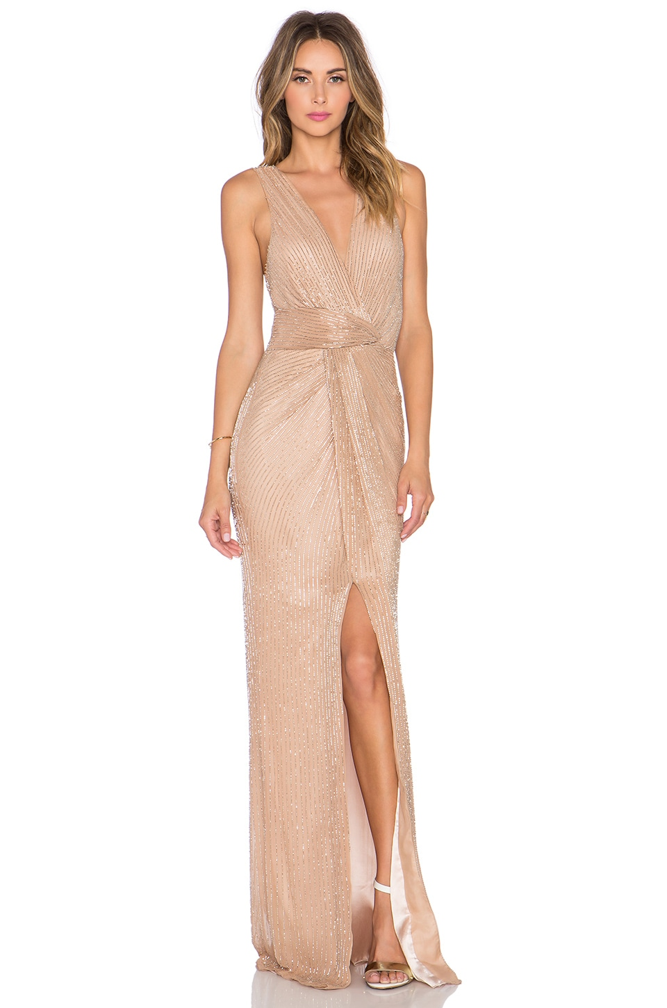 Parker Black Monarch Dress in Blush