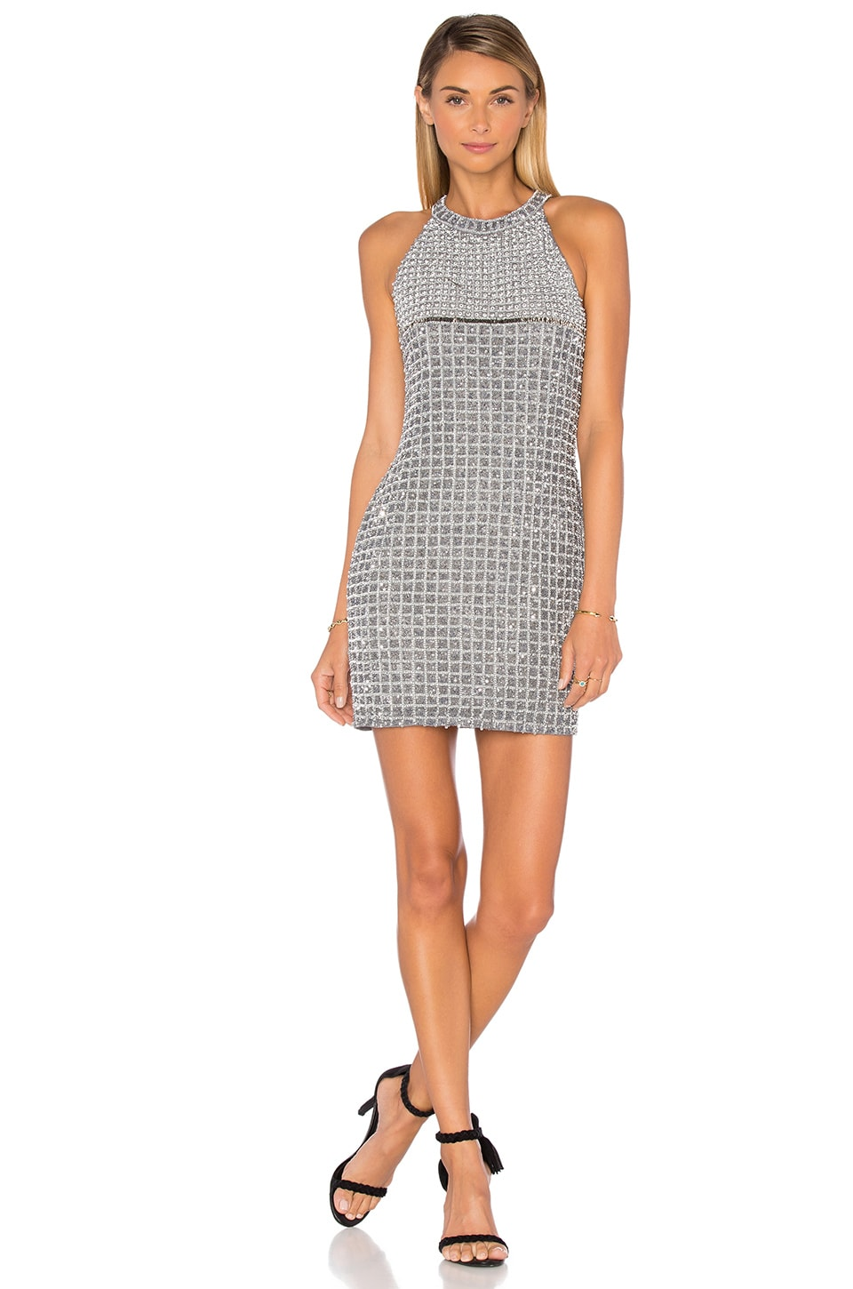 Parker Black Klum Embellished Dress in Grey
