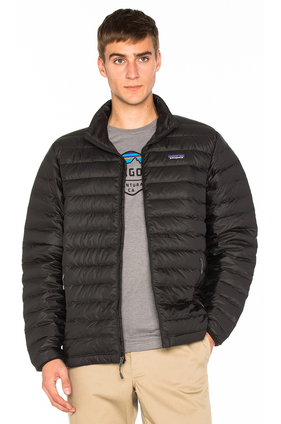 Patagonia Down Sweater in Black