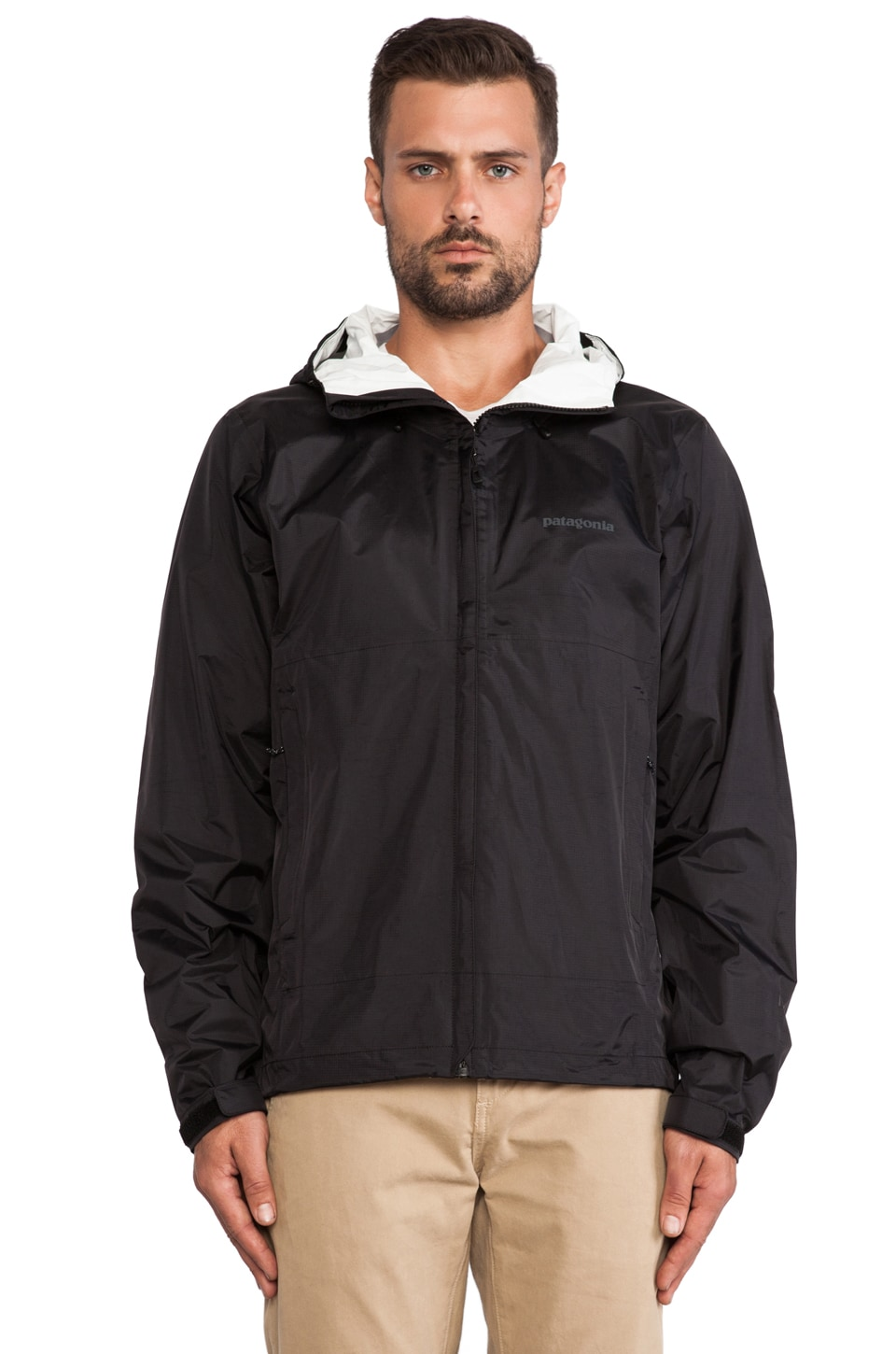 Patagonia Torrentshell Jacket in Black & Forge Grey