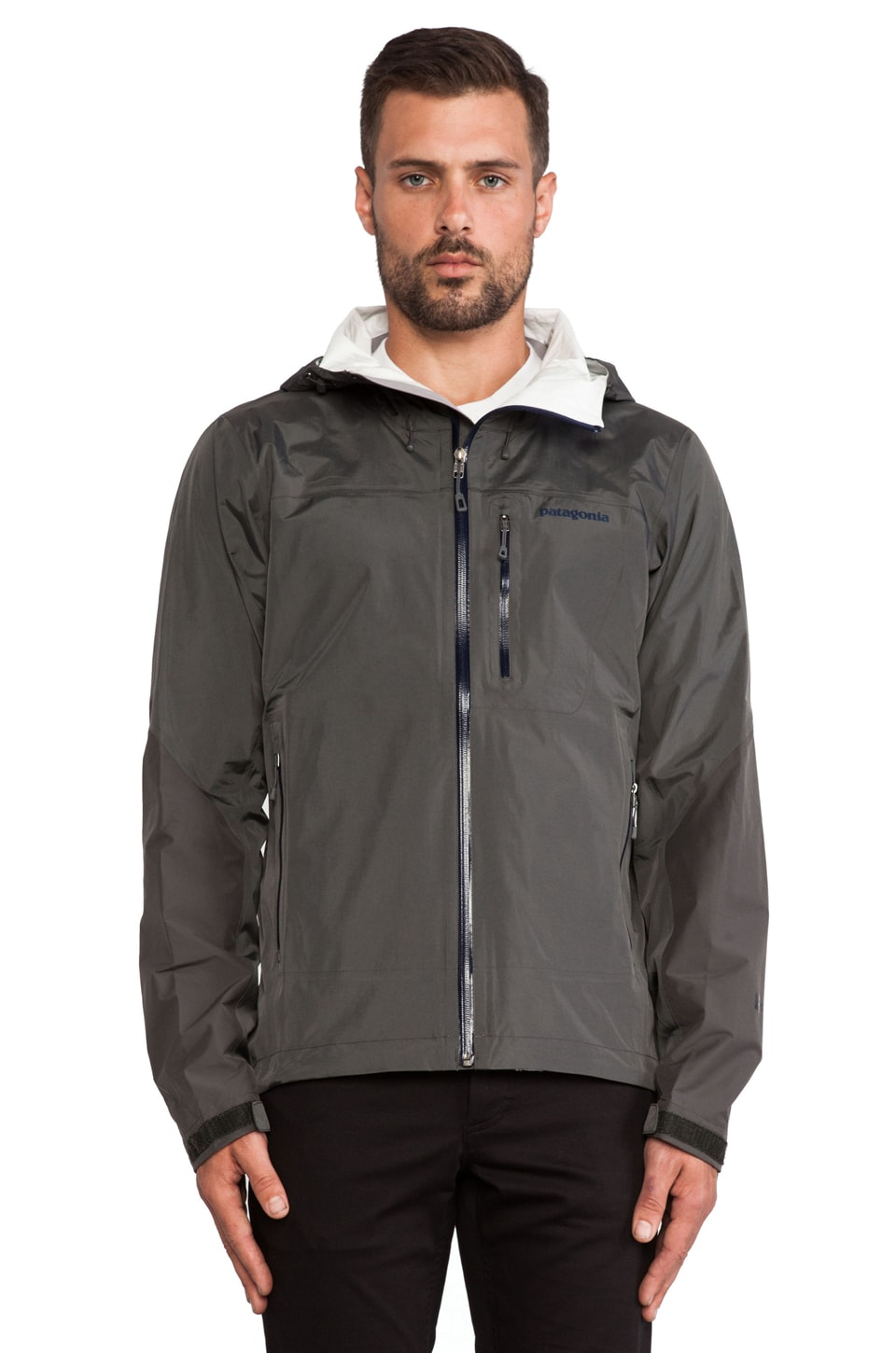 Patagonia Torrentshell Stretch Jacket in Forge Grey & Classic Navy