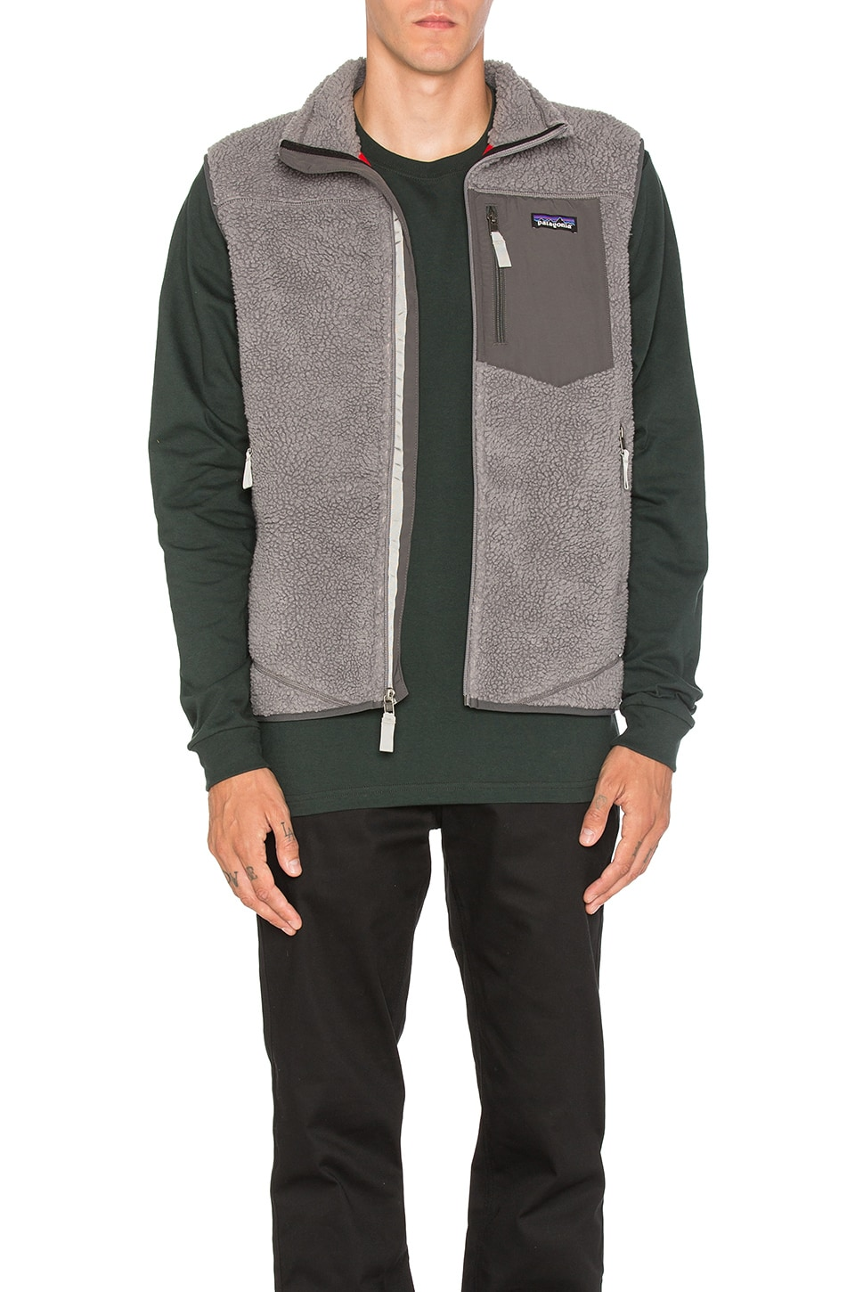 Patagonia Classic Retro-X Vest in Feather Grey | REVOLVE