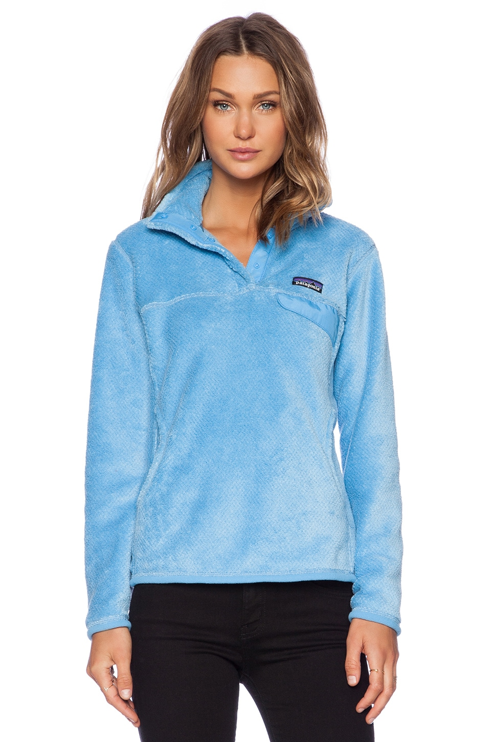 Patagonia Re-Tool Snap-T Pullover in Dusk Blue & Skipper Blue X-Dye