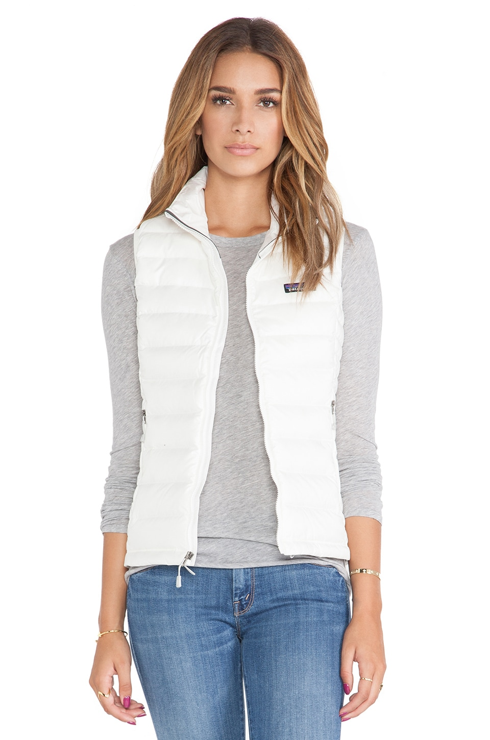 Patagonia Down Sweater Vest in Birch White | REVOLVE