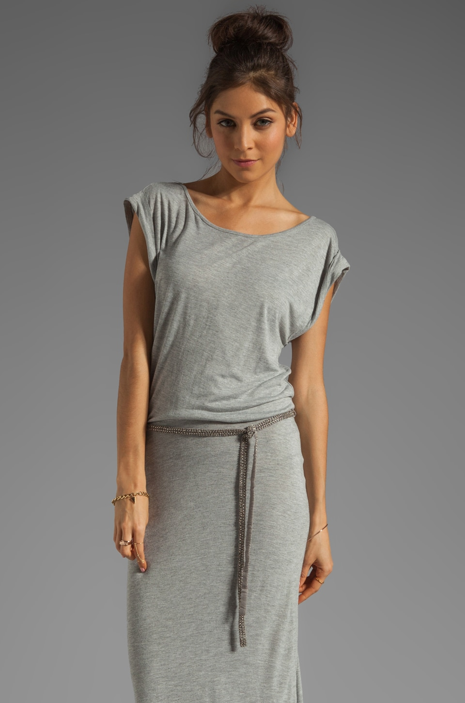 PJK Patterson J. Kincaid Fabre Maxi Dress in Heather Grey