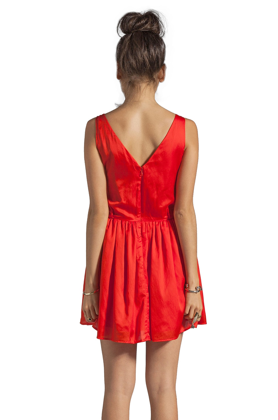 PJK Patterson J. Kincaid Patterson J. Kincaid x the man repeller Kramer Dress in Fiery Red