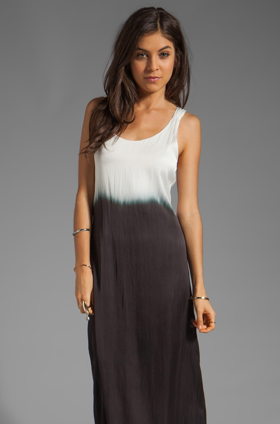 PJK Patterson J. Kincaid Patterson J. Kincaid Meeshee Dip Dye Long Dress in Moonless Multi