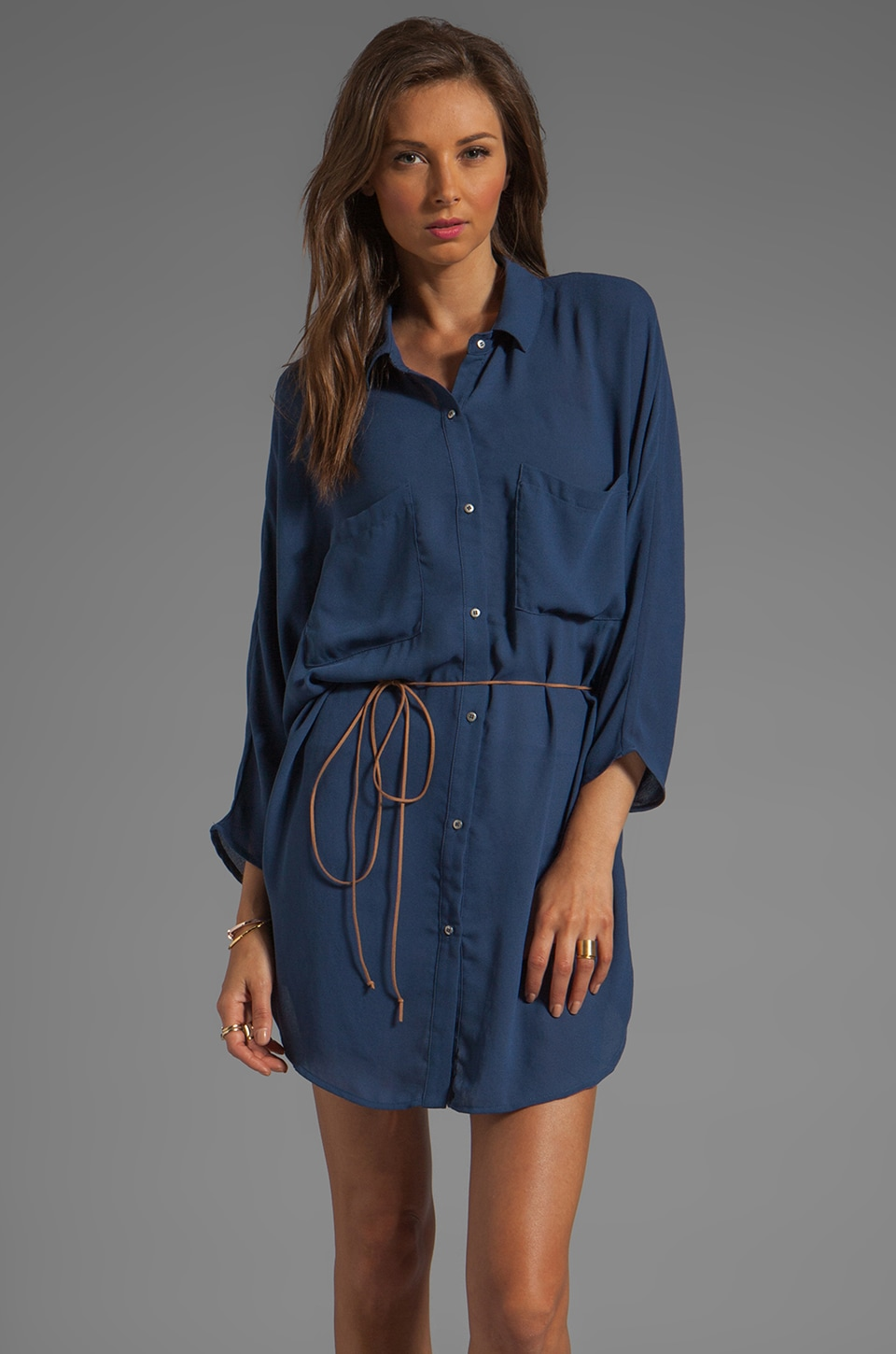 PJK Patterson J. Kincaid Patterson J. Kincaid Stella Shirt Dress in Estate Blue