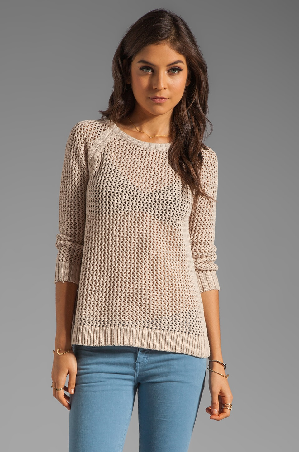 PJK Patterson J. Kincaid Nani Hi Lo Sweater in Candied Ginger