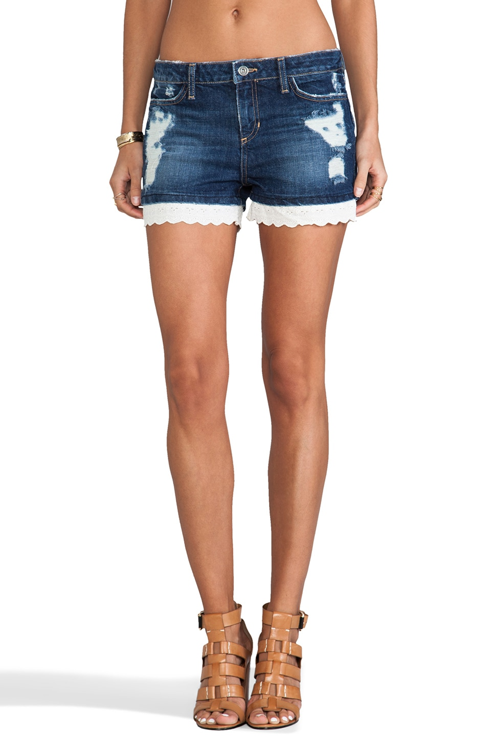 PJK Patterson J. Kincaid Patterson J. Kincaid Eyelet Denim Short in Indigo Wash