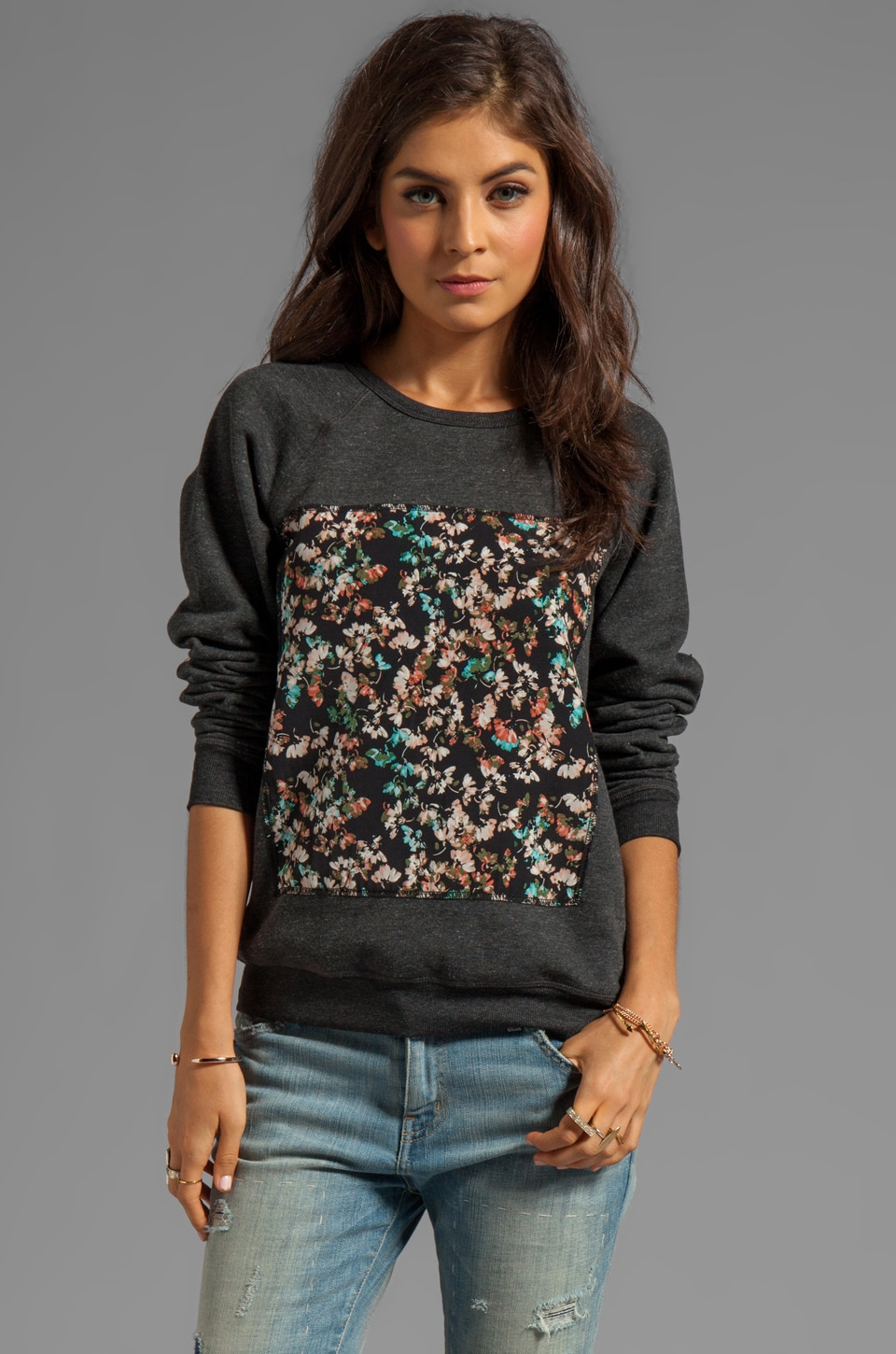 PJK Patterson J. Kincaid Pisces Pullover in Black Multi