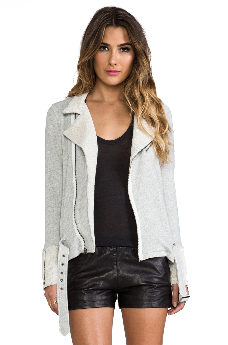 PJK Patterson J. Kincaid Bona Fide Jacket in Light Heather Grey