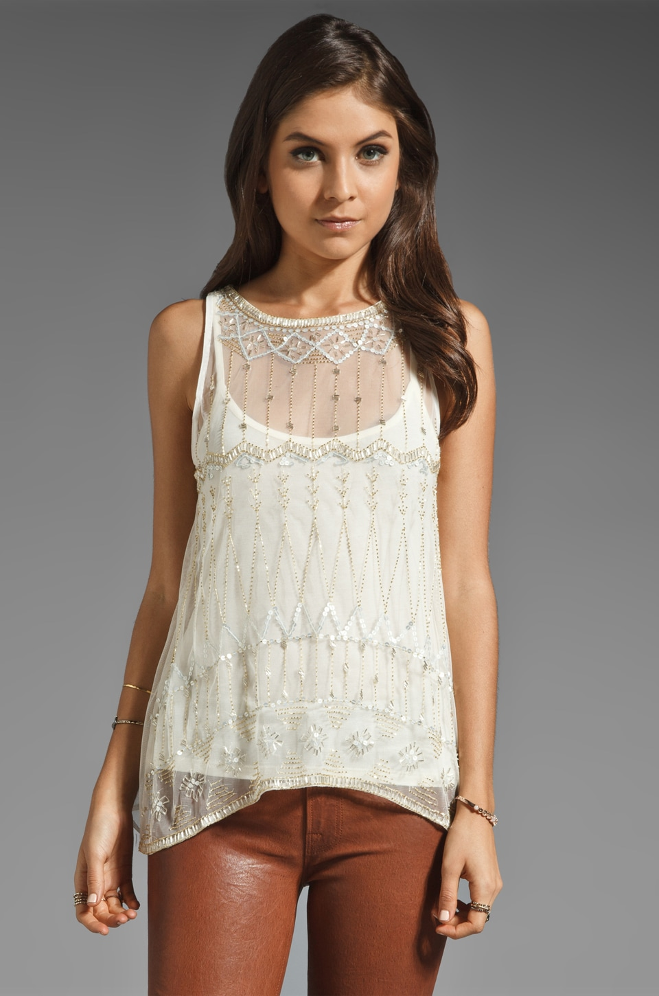 PJK Patterson J. Kincaid Louis Tank in Cream