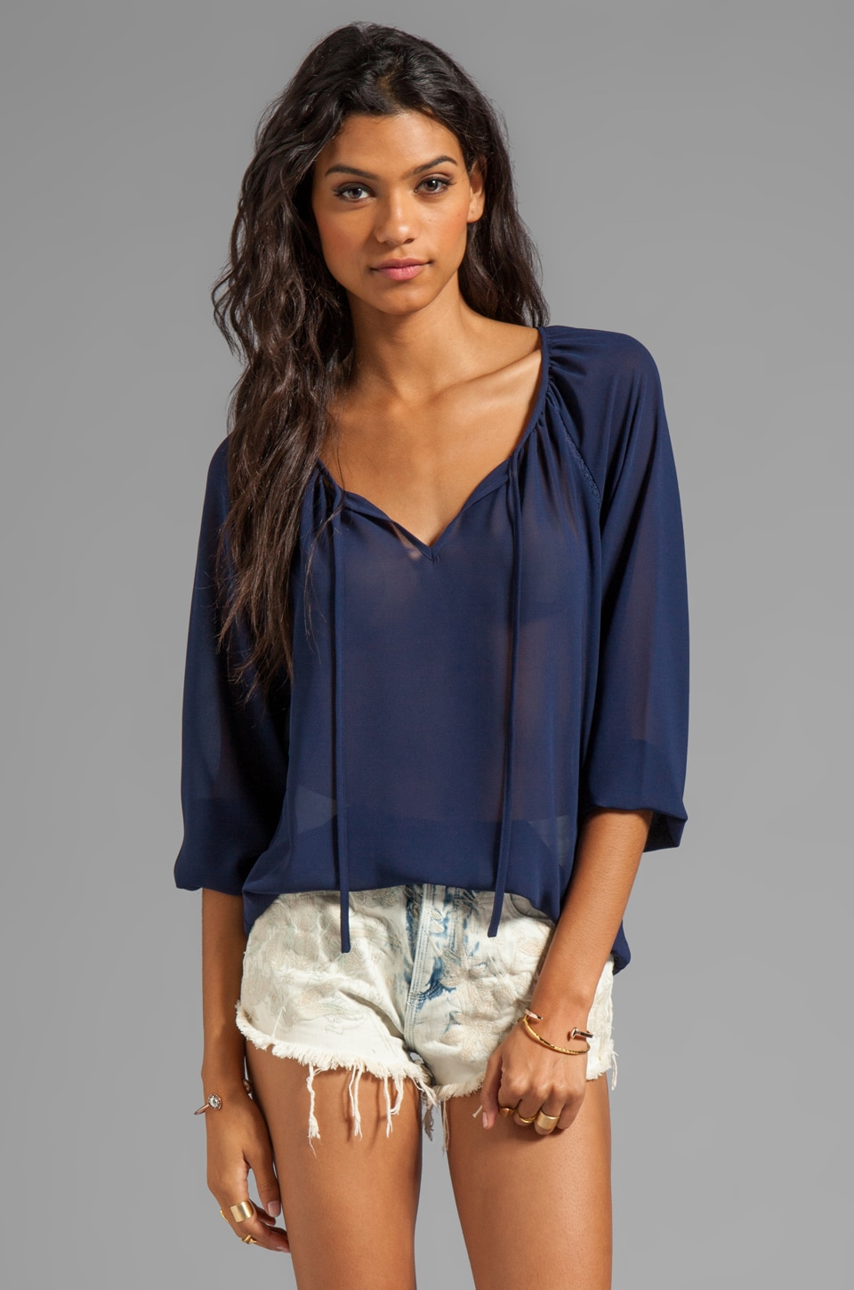 PJK Patterson J. Kincaid Patterson J. Kincaid Sofia Blouse in Evening Blue