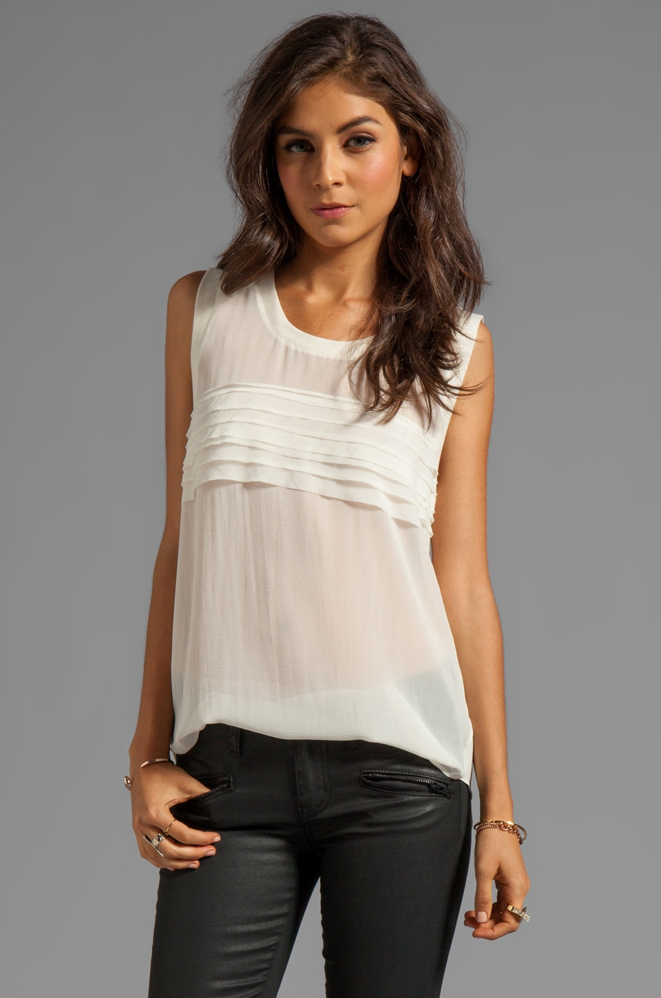 PJK Patterson J. Kincaid Zoe Tank in Antique White