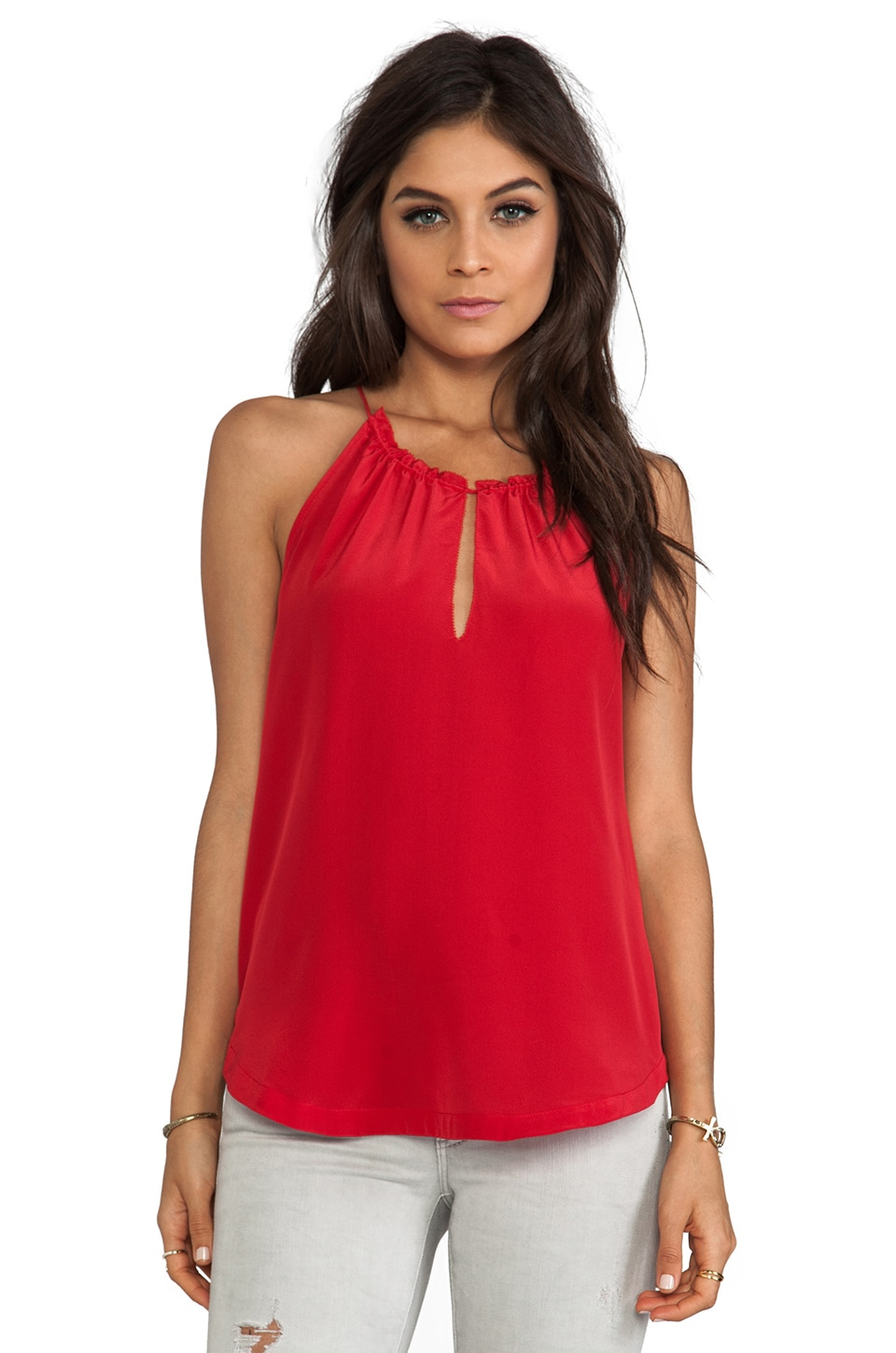 PJK Patterson J. Kincaid Reva Tank in Tango Red