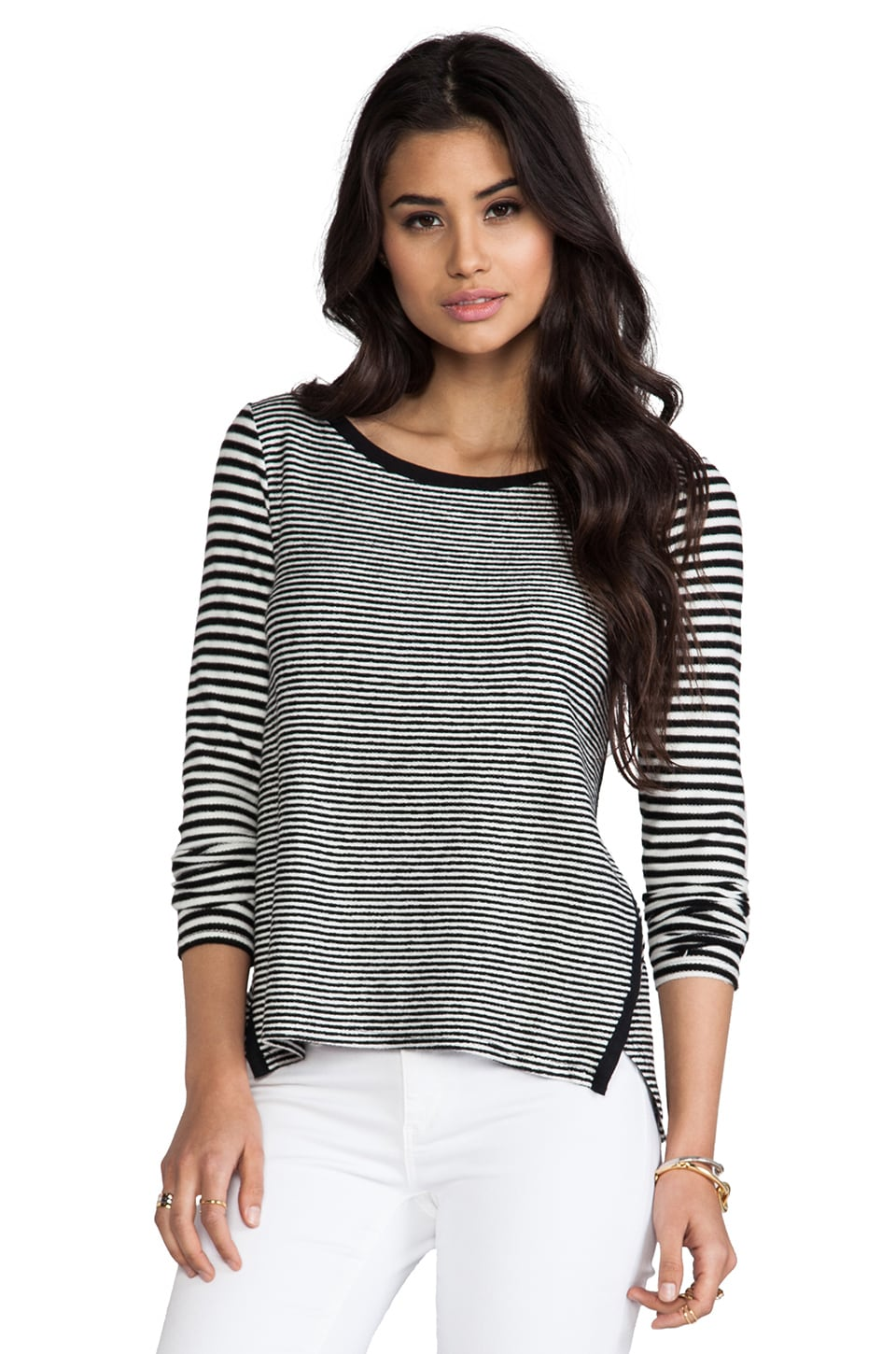 PJK Patterson J. Kincaid Fennel Long Sleeve in Black/White
