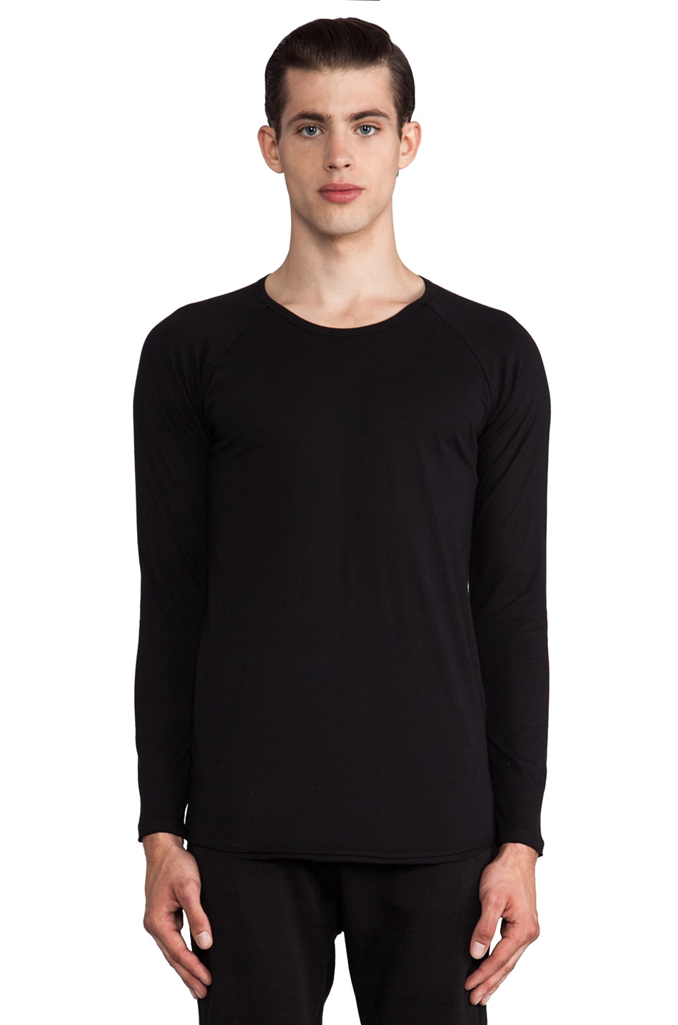 Post Bellum Raglan Tee in Noir