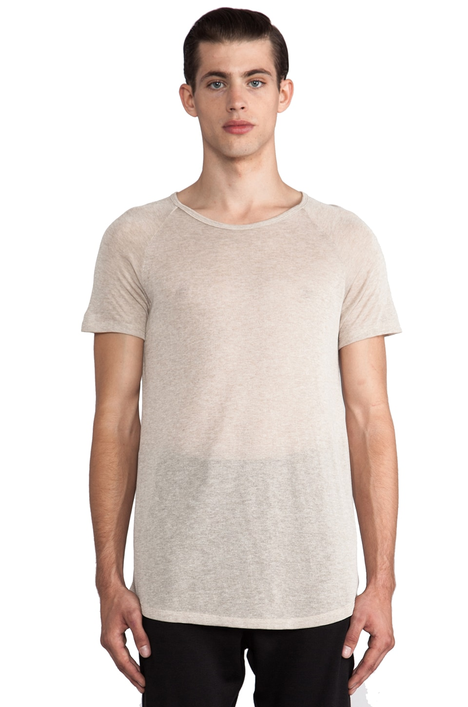 Post Bellum Slub Raglan Tee in Beige