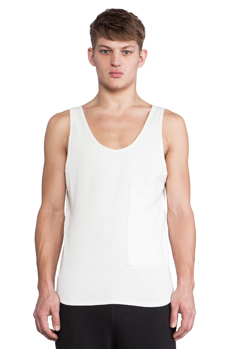 Post Bellum Oversized Pocket Tank in Ivory