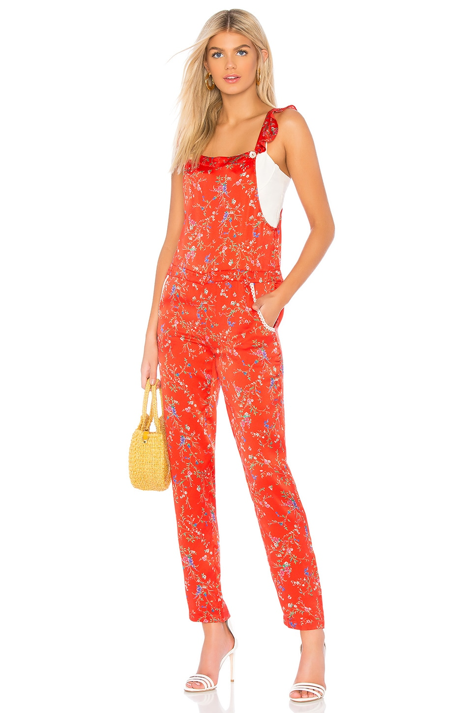 PALOMA BLUE Amalfi Overalls in Red