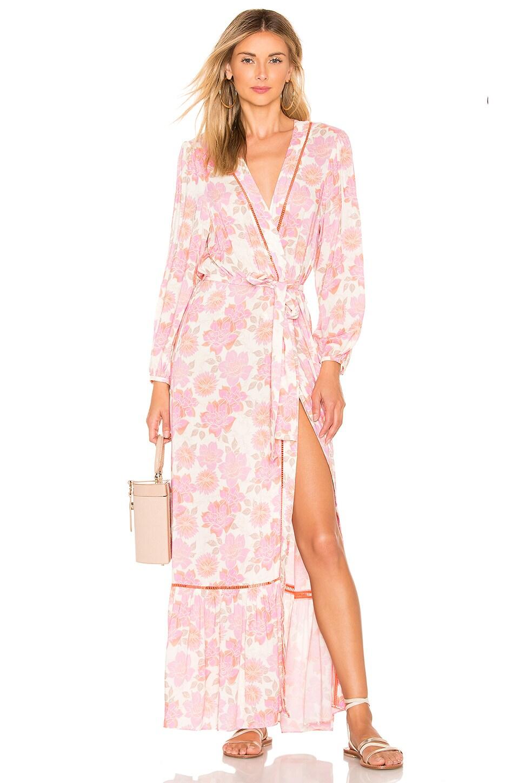 PALOMA BLUE Bowie Kimono Dress in Pink