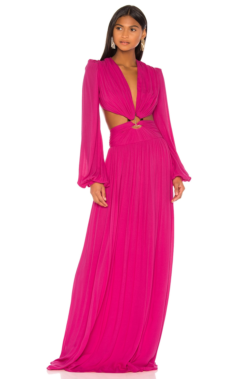 PatBO Neon Cutout Gown in Flamingo