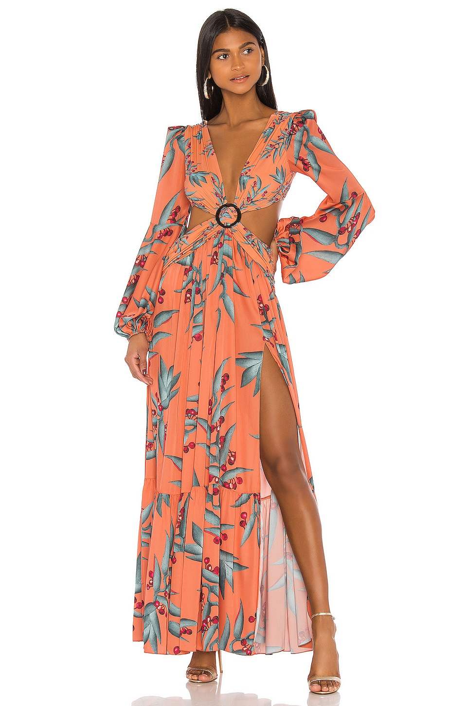 Patbo Long Sleeve Cutout Dress In Heliconia Coral Revolve Shop over 2,600 top long sleeve red dress and earn cash back all in one place. patbo
