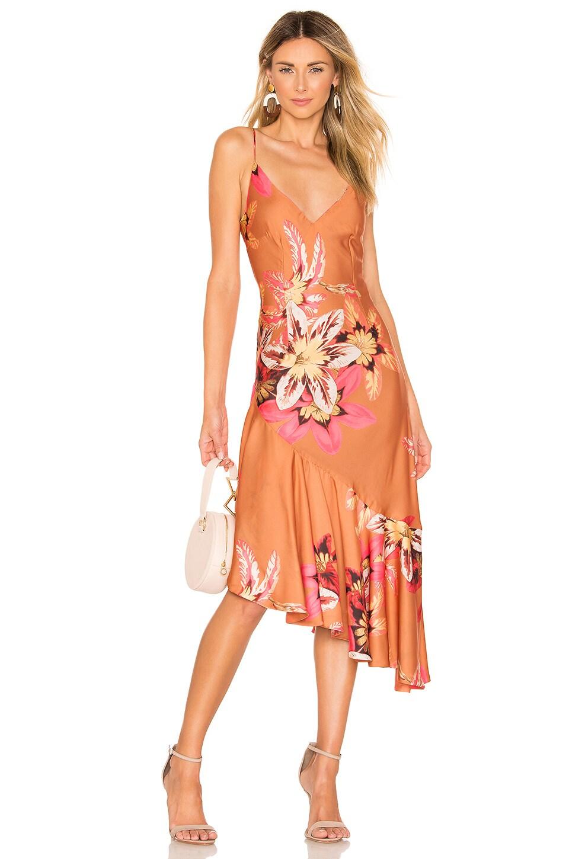 Floral Carmen Ruffle Slip Dress