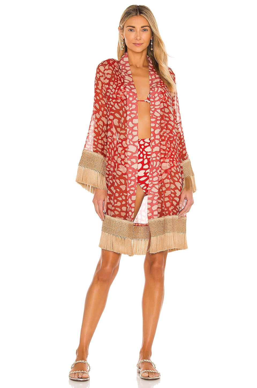 Patbo Spotted Fringe Trim Robe