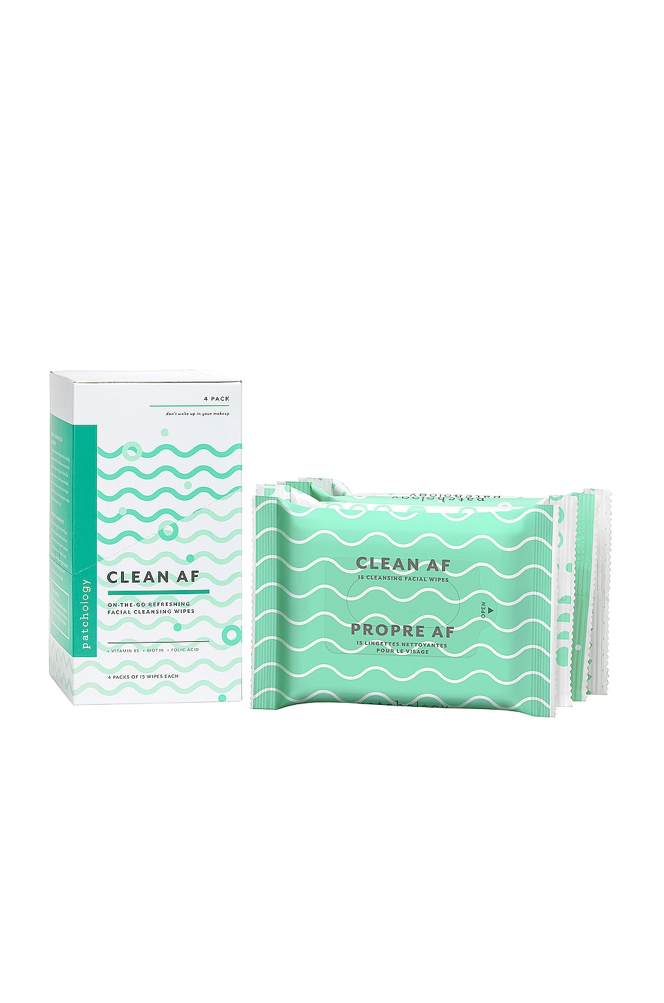 Clean AF Facial Cleansing Wipes 4 Pack