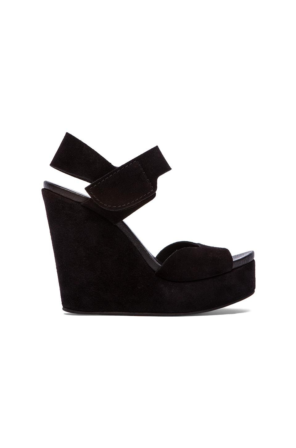 Pedro Garcia Tilda Wedge in Black Castro