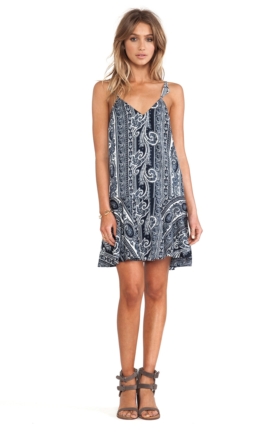 Pencey Triangle Slip Mini Dress in Bandana Print