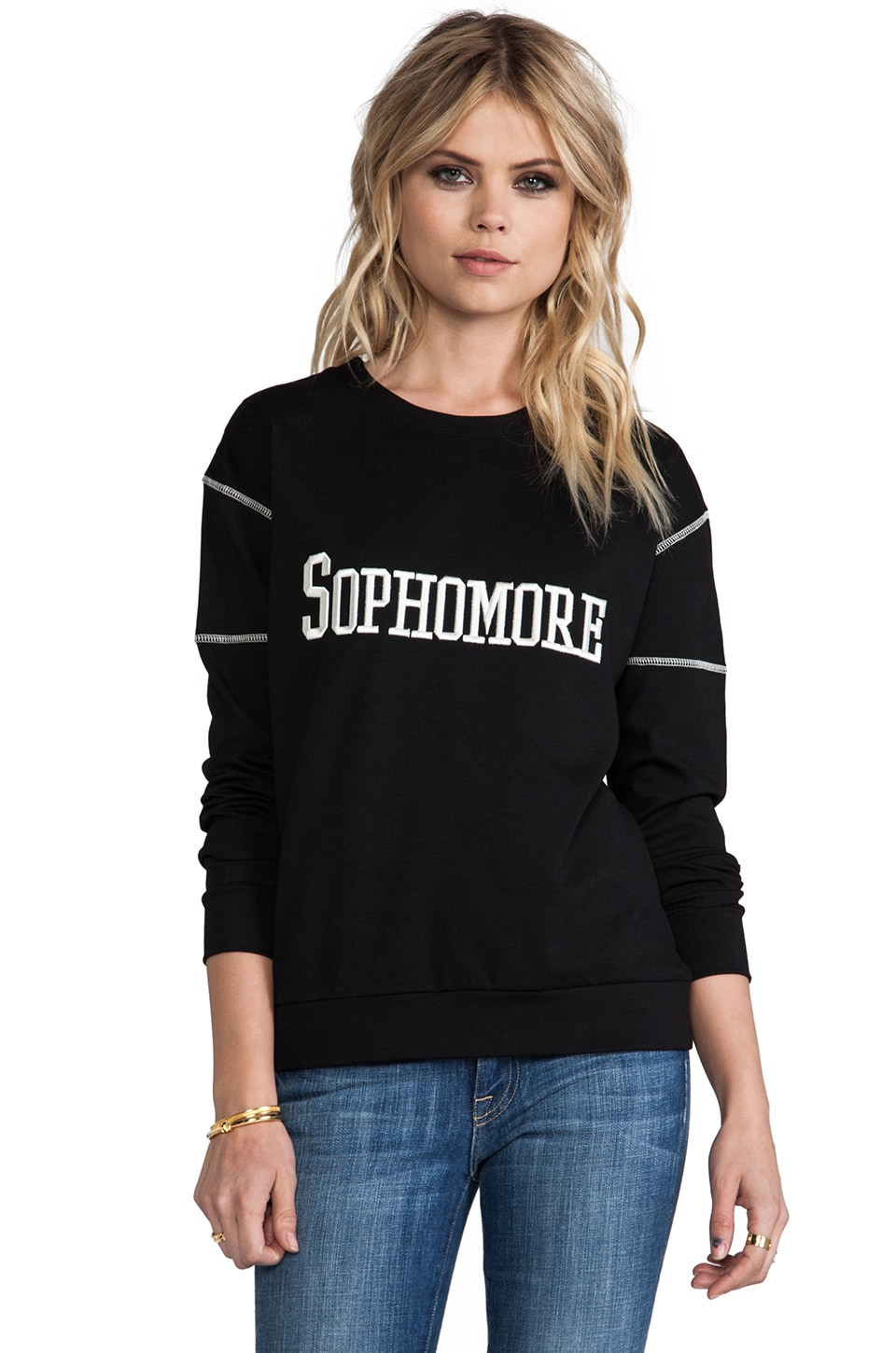 Pencey Sophomore Sweatshirt in Black