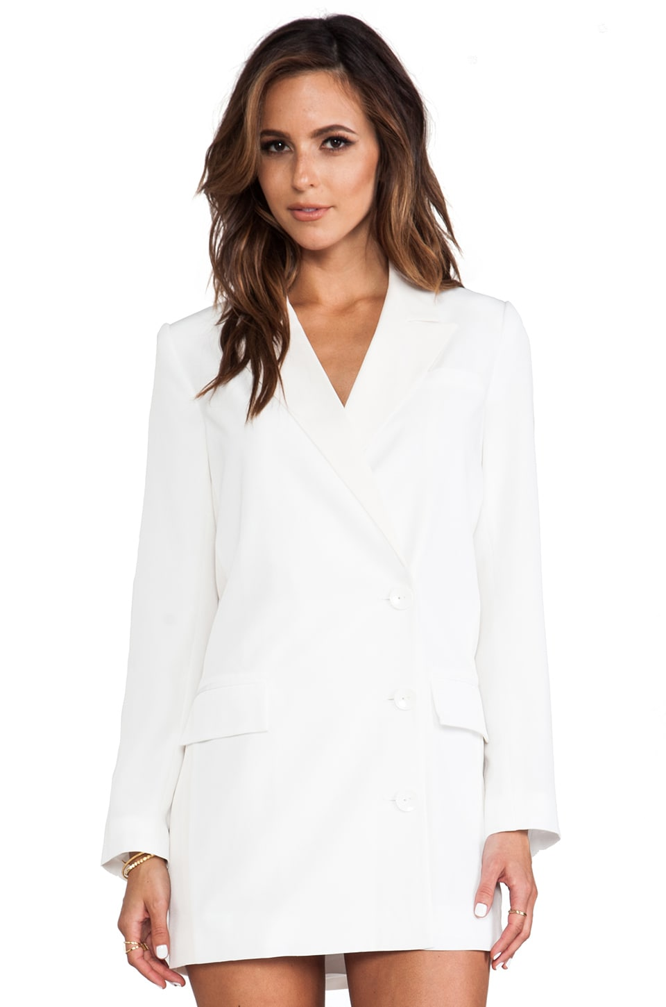 Pencey Validation Long Blazer in White