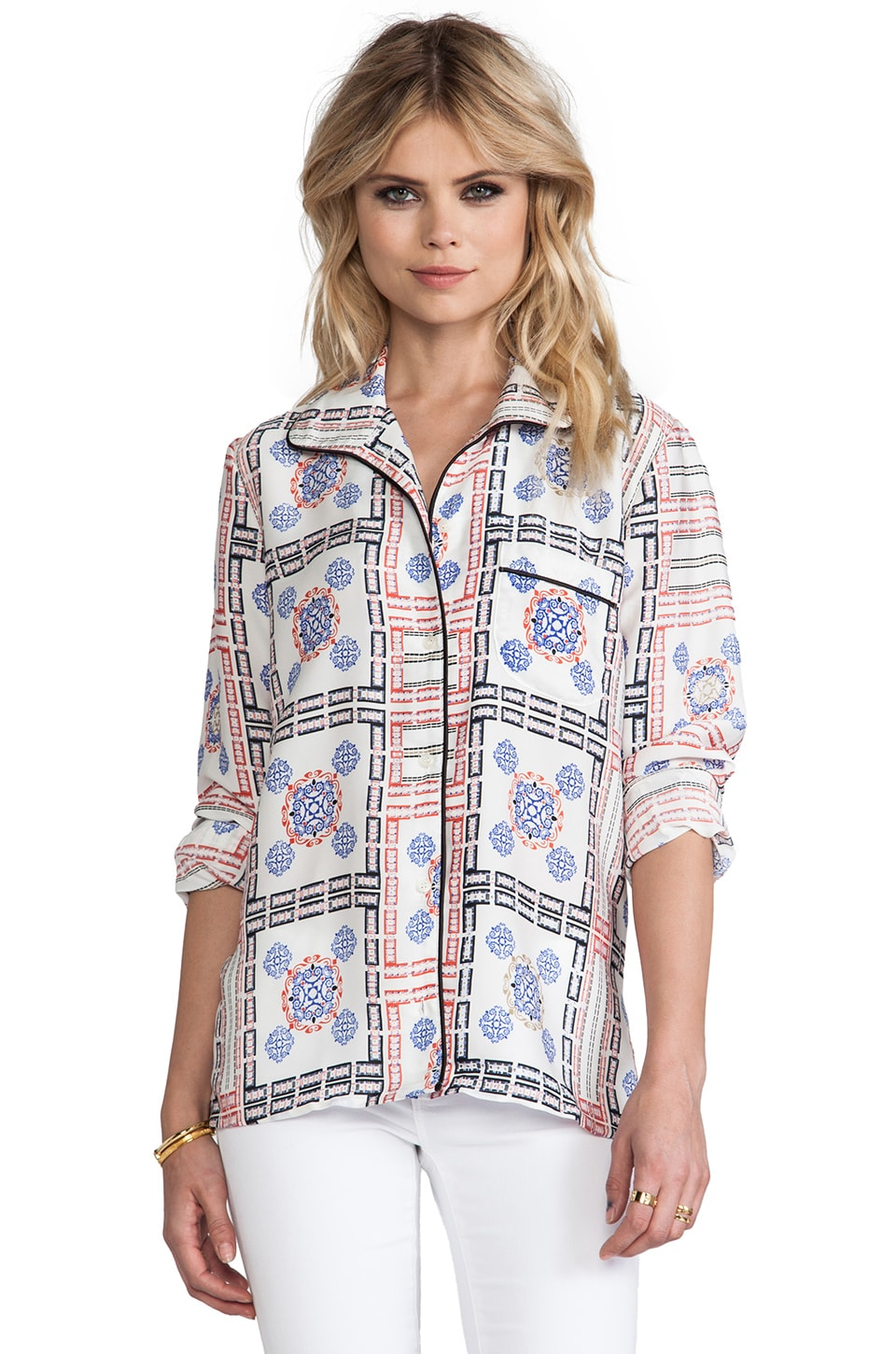 Pencey Lounge Blouse in Print
