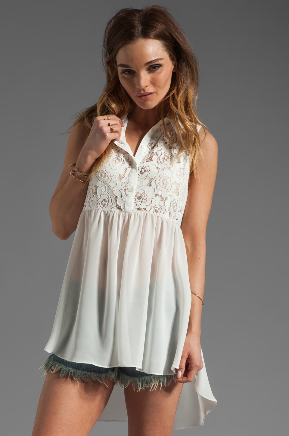 Pencey Open Back Tunic in White