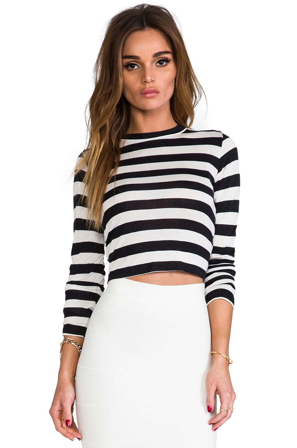 Pencey Crop Tee in Stripe
